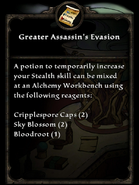 Greater assassin's evasion