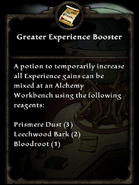 Greater experience booster
