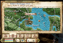 Bootlegger Port Map Location post Fires Dimished