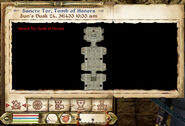 Sancre Tor, Tomb of Honors Map (1)