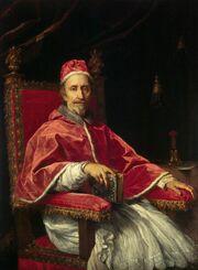 Carlo Maratta - Portrait of Pope Clement IX - WGA14046
