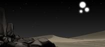 Red Desert Three Moons