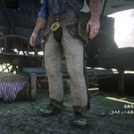 野豬皮流蘇霰彈槍套褲