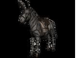 Zebra Esel