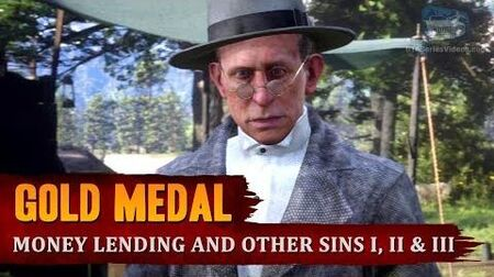 Red Dead Redemption 2 - Mission 14 - Money Lending and Other Sins I, II & III Gold Medal-0