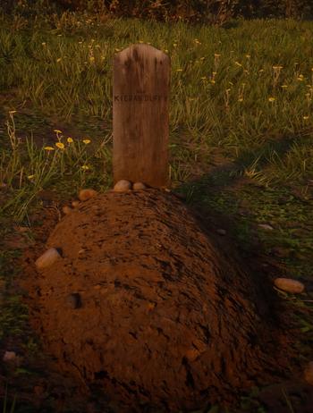 sein Grab