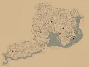 RDR2 Stall Pferdehehler Karte
