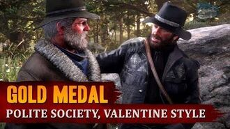 Red Dead Redemption 2 - Mission 8 - Polite Society, Valentine Style Gold Medal-0