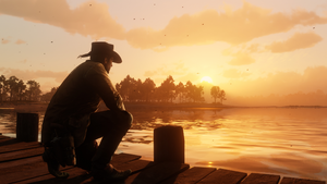 Arthur Morgan Flat Iron Lake
