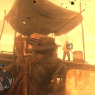 Die Beta-Phase des Zielsystems, unten über dem Radar wird in einer frühen Version die aktuelle Waffe angezeigt