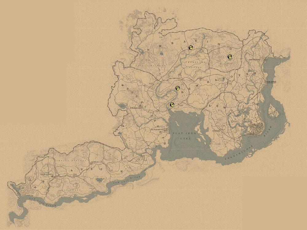 Karte Der Jack Hall Bande 1