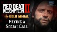 RDR2 PC - Mission -11 - Paying a Social Call -Replay & Gold Medal-