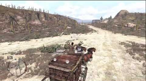 Red Dead Redemption Freeroam Gameplay - Stagecoach 1