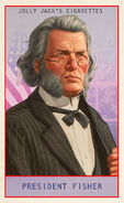 Prominent Americans Card President Fisher