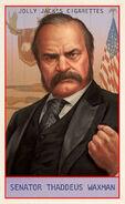 Prominent Americans Card Senator Thaddeus Waxman