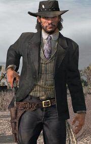 John Marston in zijn Elegant Suit