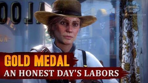 Red Dead Redemption 2 - Mission 99 - An Honest Day's Labors Gold Medal