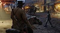 Arthur Morgan Rides into town