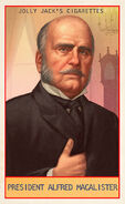 Prominent Americans Card President Alfred MacAlister
