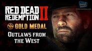RDR2 PC - Intro & Mission -1 - Outlaws from the West -Replay - Gold Medal-