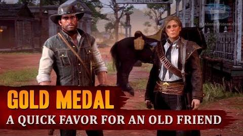 Red Dead Redemption 2 - Mission 102 - A Quick Favor for an Old Friend Gold Medal