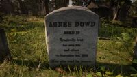 Agnes' Gravestone