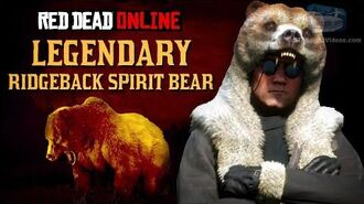 Red Dead Online - Legendary Ridgeback Spirit Bear Location Animal Field Guide