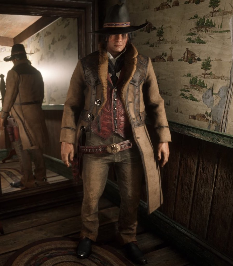dda14ff150fe A player from Red Dead Online seen wearing the outfit.