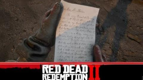 Red Dead Redemption 2 - Finding a letter to Bonnie MacFarlane