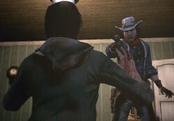 Charlie threathing hostage