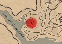 Sea Of Coronado hideout on RDO map