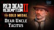 RDR2 PC - Mission 61 - Dear Uncle Tacitus Replay & Gold Medal