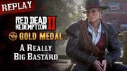 RDR2 PC - Mission 102 - A Really Big Bastard Replay & Gold Medal