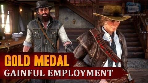 Red Dead Redemption 2 - Mission -95 - Gainful Employment -Gold Medal-