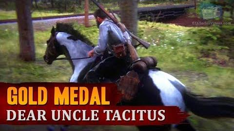 "Red Dead Redemption 2 - Mission 63 - Dear Uncle Tacitus (""May I? Stand Unshaken"") Gold Medal"