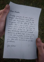 Letter to Martin from Father