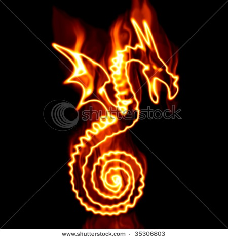 Stock-photo-flying-dragon-surrounded-by-fire-on-a-white-background-35306803