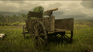 Maxim Gun mounted on wagon rdr2