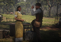 RDR2 Arthur and Tilly at CP