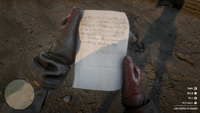 Red dead 2 letter to Bonnie MacFarlane back