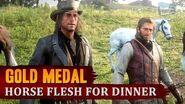 Red Dead Redemption 2 - Mission 37 - Horse Flesh for Dinner Gold Medal