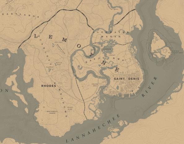 Red Dead Redemption 2 Watsons Blockhutte Karte.Lemoyne Red Dead Wiki Fandom Powered By Wikia