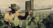 Arthur Morgan holding ROLLING BLOCK RIFLE RDR2