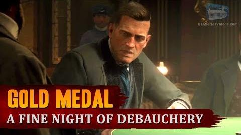 Red Dead Redemption 2 - Mission 52 - A Fine Night of Debauchery Gold Medal