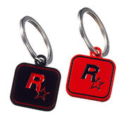 RDR2 Outlaw Essentials Keychain Black Red