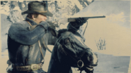Arthur Morgan holding carbine repeater RDR2