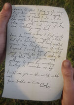 Letter to Tom from Colm page 2