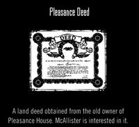 Pleasance Deed