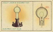Amazing Inventions Card Electric Light Bulb