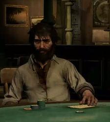 Scot playing poker